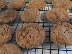 Fresh ginger, candied ginger, and ground ginger join forces in these spicy ginger cookies. My Recipes, Sweet Recipes, Baking Recipes, Cookie Recipes, Dessert Recipes, Ginger Molasses Cookies, Ginger Snap Cookies, Christmas Desserts, Cookies