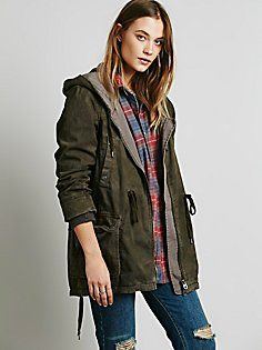 Solid Knit Mixed Cargo Jacket | Free People