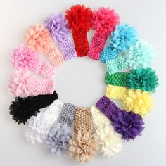 Alice Baby Girl Headband Hair Bows/ Infant Headwear Hair Flower (Pack of 16) - Google Search