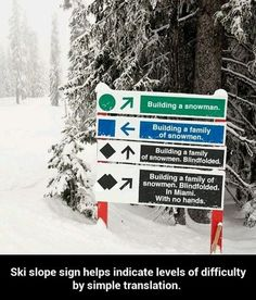 Ski slope sign // funny pictures - funny photos - funny images - funny pics - funny quotes - #lol #humor #funnypictures