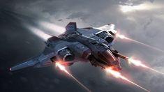 Sabre Concept for Star Citizen, amazing Space Sim Videogame.
