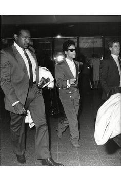 Very rare Prince pic, Heathrow Airport, London 1986
