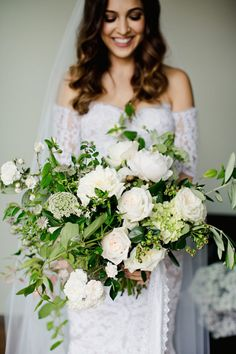 classic green and white bouquet