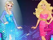 Barbie Vs Elsa Dress Up Fashion Contest Elsa Dress Barbie Fashion