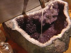 It's a freaking amethyst geode freaking SINK! I am so happy I am literally about to cry!!!!!