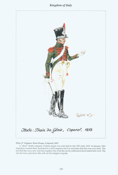 Regno d'Italia -  Engineer Train Troops, Corporal, 1812