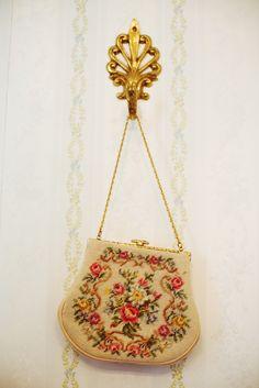 grandmother's needlepoint purse...something old