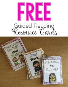 Guided Reading Resource Card FREEBIE