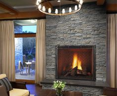 Andes Gray / Ledge Stone faux stone for fireplace at build direct