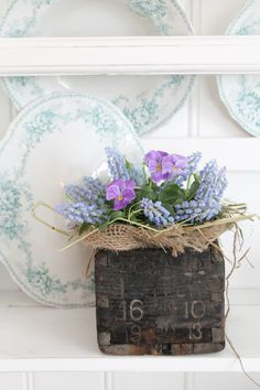 love this... I would use all white flowers with the burlap, or maybe even no burlap
