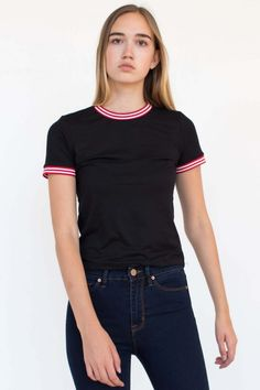 ebc5393f4 Basic Black Ringer tee! Great for school! Ringer Tee, Women's Tops. Ragstock