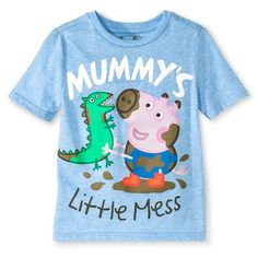 Toddler Boys' Peppa Pig George Pig T-Shirt - Blue Heather $7.99