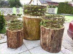 Luxurious Papawerk: Decoration for a family project - very easy - Deko Hauseingang - garten Garden Art, Garden Design, Wood Trellis, Trellis Design, Garden Trellis, Deco Champetre, Deco Floral, Land Art, Garden Projects