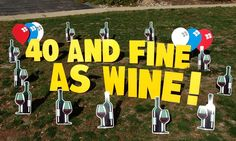 birthday yard signs | wine happy birthday yard greetings cards lawn signs party rentals ...