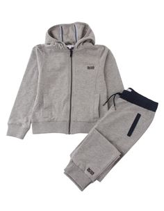 This girls Hugo Boss Tracksuit contains a light grey hoody with elasticated waistband and cuffs, with a black statement zip running down the front. Hugo Boss Tracksuit, Grey Hoodie, Off Duty, Girl Boss, Adidas Jacket, Hoods, Casual, Jackets, Shopping