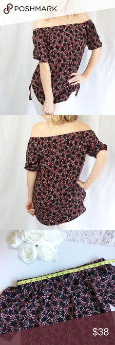 🌸Michael Kors Floral Off-the-shoulder top NWT Such a pretty spring top! 🌸 Make an offer! 😊  Size Extra Small Off the shoulder pink flowers  ▶️Measurements in photos ▶️Materials/care in photos  💕My home is smoke and pet free Michael Kors Tops Blouses