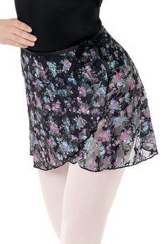 Floral Print Lace Wrap Skirt