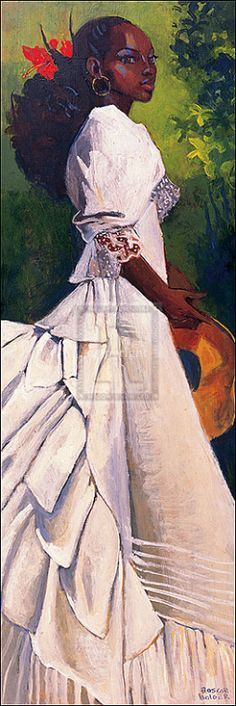 Woman in white. Boscoe Holder, Trinidad y Tobago