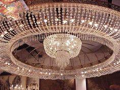 US $45,000.00 Huge 12' Art Deco Chandelier 1930's Miami Beach Saxony