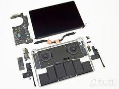 MacBook Pro Retinadémonté.