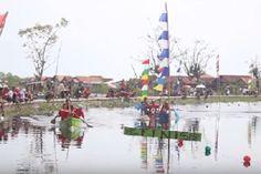 Kesal Tak Tak Diperhatikan Pemerintah, Warga Desa Jeruksari Gelar Lomba Dayung Di Tengah Banjir Rob