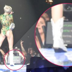 Busted: Miley Cyrus Is Using A Teleprompter During Raunchy Performances On Bangerz Tour To Remind Her Of Her Own Lyrics! | Radar Online