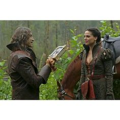 Rumpulstilskins and Regina Once Upon a Time ❤ liked on Polyvore featuring once upon a time and ouat