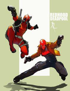 Redhood & Deadpool by Babrus Khan