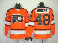 Professional USA Cheap Flyers 48 Briere orange 2012 winter classic ice hockey Jersey (P) Supplier Online