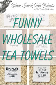 Excited to share this item from my shop: Wholesale Tea Towels | STARTER Pack | Kitchen Home Decor | tea towel wholesale #etsy Wholesale Tea, Wholesale Home Decor, Fun Conversation Starters, Funny Home Decor, Best Friends Funny, Bee Gifts, Stocking Tree, Funny Mothers Day, Christmas Truck