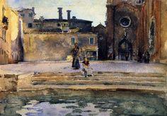 Campo di Frari, Venice: 1880-1882 by John Singer Sargent by John Singer Sargent (Corcoran Gallery, Washington D.C.)