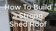 Wondering how to build a shed roof and how it all goes together? To make it easier, I've put together a how-to DIY shed roof building step by step guide. Building A Shed Roof, Building A Storage Shed, Storage Shed Plans, Workshop Storage, Shed Design, Roof Design, Cheap Backyard Makeover Ideas, Backyard Sheds, Backyard Office