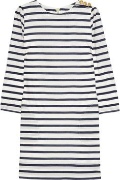 AUBIN & WILLS  Swarthmore striped cotton-poplin mini dress