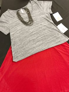 This is so classy & perfect for work or a date night!!! XS Classic T $35 with a solid RED S Azure $35.