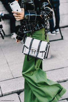 statement pants, green pants, collage vintage, PFW, зеленые брюки, парижский шик