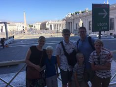 What a great family photo in front of St Peter's Basilica on August 23rd! This was just one of many of our clients stops on their rome in a day tour! This was such a great day because our clients got to see all of the highlights of Rome in one day! For more information on this tour: https://www.livitaly.com/tour/rome-in-a-day-vip-small-group-tour/?src=pinterest