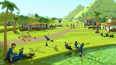 Godus development said to be winding down at - Gameplanet Digital Storytelling, Low Poly 3d, Landscape Art, Game Design, Art Reference, Concept Art, Character Design, 3 Balls, Asdf