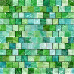 Seamless green tiles texture by Kmiragaya, via Dreamstime