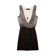 IZ Amy Byer Twist Mock-Layer Dress - Girls 7-16