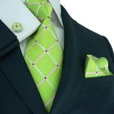 Green,Pink and Fushia/ HotPink Necktie Set JPM177 – Toramon Necktie Company