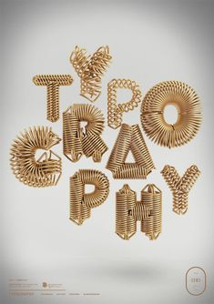 Awesome gold typography!