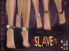 Slave Ankle Cuffs Affiche | 187-blog.blogspot.fr/2018/04/sla… | Flickr Los Sims 4 Mods, Sims 4 Game Mods, Sims Games, Sims 4 Clothing, Greek Clothing, Sims Medieval, Play Sims, Sims Ideas, Game