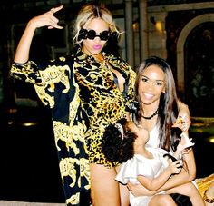 Beyonce and former Destiny's Child bandmate Michelle Williams spend time with Blue Ivy Carter on New Year's Eve 2013.