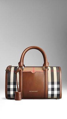 966ac2510210 Medium Sartorial House Check Bowling Bag