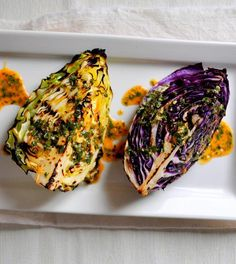 Grilled Cabbage Wedges with Spicy Lime Dressing via breannasrecipebox.blogspot.com