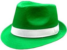 cc396b45eb6 St. Patrick s Day Irish Kelly Green Fedora Hat Ireland Holiday