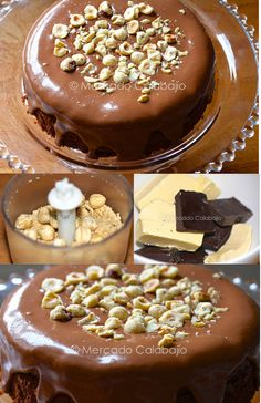 Torta gianduia de chocolate y avellanas / http://www.mercadocalabajio.com/
