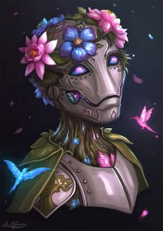 """Juniper for 🖤🌸🤖"" Fantasy Character Design, Character Creation, Character Concept, Character Inspiration, Character Art, Character Ideas, Fantasy Races, Fantasy Rpg, Fantasy Artwork"