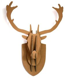 INSTRUCTIONS ON HOW TO MAKE A CARDBOARD BOX STAG DEER HEAD