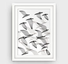 Bird Art Print Modern Wall Decor Bird Print by GalliniDesign